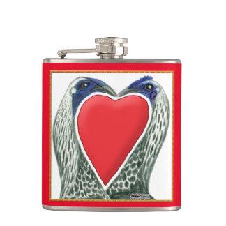 Valentine Game Chickens Flasks