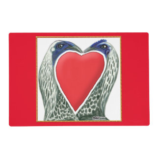Valentine Game Chickens Laminated Place Mat