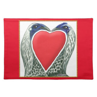 Valentine Game Chickens Place Mats