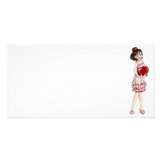 Valentine Girl Custom Photo Card