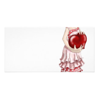 Valentine Girl Photo Cards