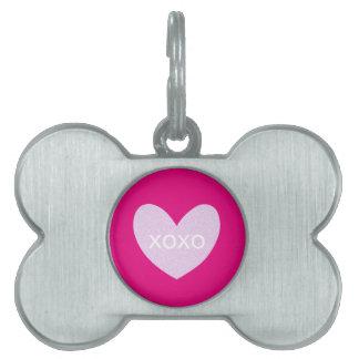 Valentine Gram Pet ID Tag