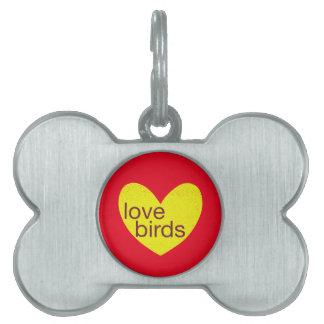 Valentine Gram Pet Name Tag