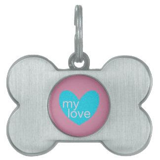 Valentine Gram Pet Tag