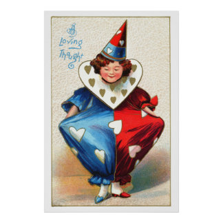 Valentine Harlequin Poster