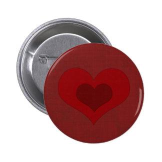 Valentine heart 2 inch round button