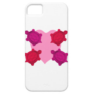 Valentine Heart and Turtles Case For The iPhone 5