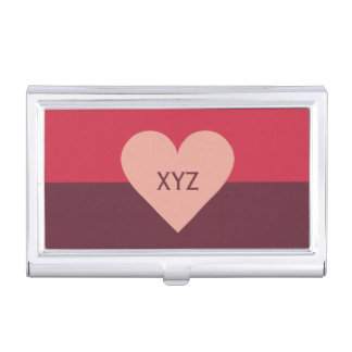 Valentine Heart custom business card holder