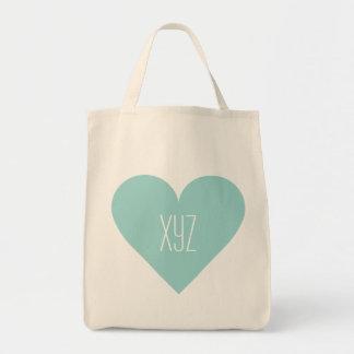 Valentine Heart custom monogram bags