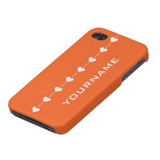Valentine Heart custom monogram cases iPhone 4 Cover