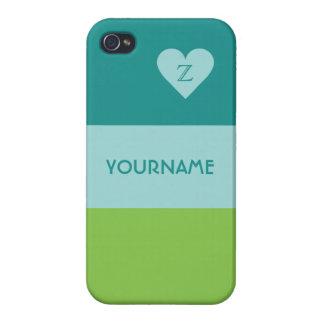 Valentine Heart custom monogram cases iPhone 4 Covers