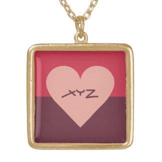 Valentine Heart custom monogram necklace