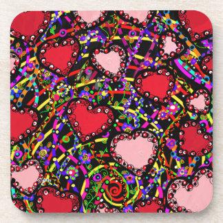 Valentine Heart Designs Coaster