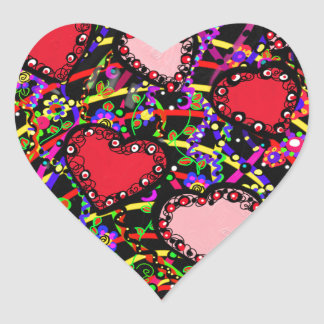 Valentine Heart Designs Heart Sticker