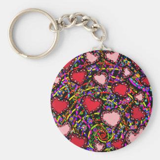 Valentine Heart Designs Keychain