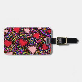 Valentine Heart Designs Luggage Tag