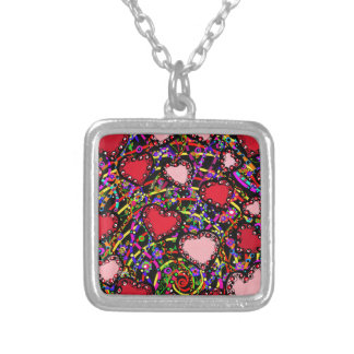 Valentine Heart Designs Silver Plated Necklace