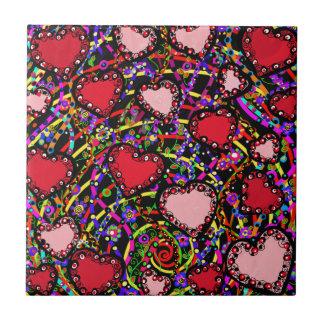 Valentine Heart Designs Tile