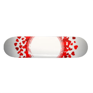 Valentine heart filled with hearts custom skate board