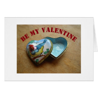 Valentine Heart - Heart Shaped Metal Box Card