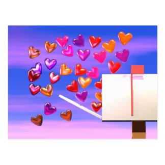 Valentine Heart Mail Postcard