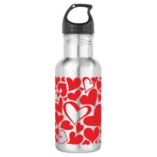 Valentine heart pattern 532 ml water bottle