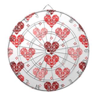Valentine Heart Pattern Dartboard