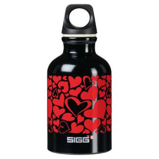 Valentine heart pattern water bottle