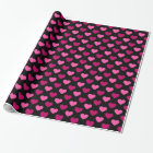 Valentine heart pattern wrapping paper