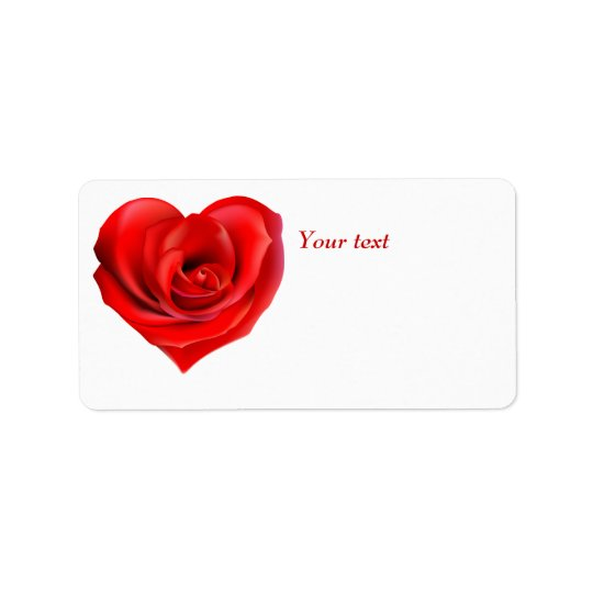 Valentine heart personalized gift Label