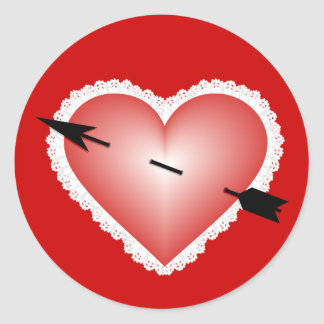 Valentine Heart Round Sticker