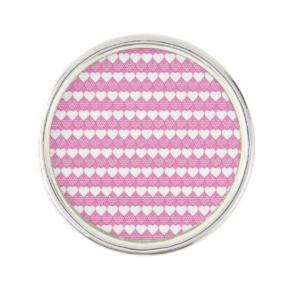 Valentine Hearts All in a Row Lapel Pin