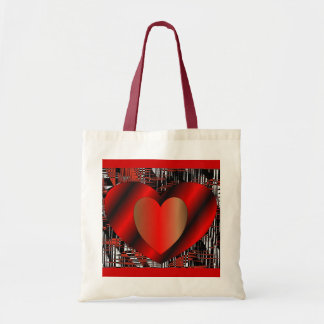 Valentine Hearts Budget Tote Bag