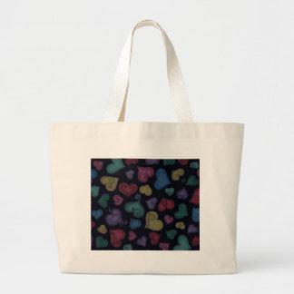VALENTINE HEARTS by SHARON SHARPE Jumbo Tote Bag