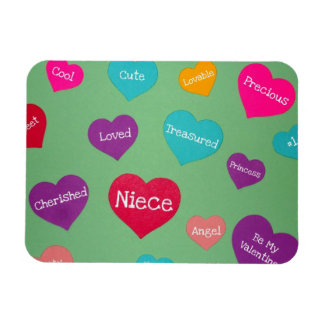 Valentine hearts for a sweet niece! magnet