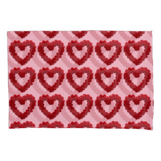 Valentine Hearts of Roses pillow case