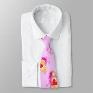Valentine Hearts on Pink Tie