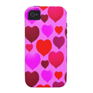 Valentine Hearts Pattern iPhone 4 Covers