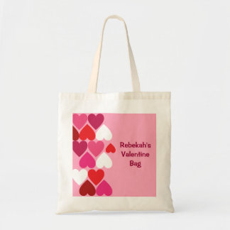 Valentine Hearts Personalized Tote Bag