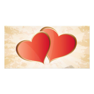 Valentine hearts personalized photo card
