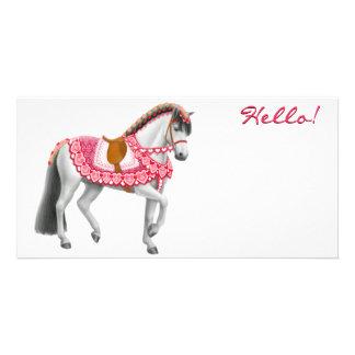 Valentine Horse Photo Card