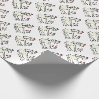 Valentine Horse Wrapping Paper