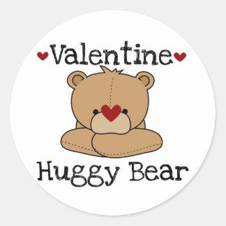Valentine Huggy Bear Stickers