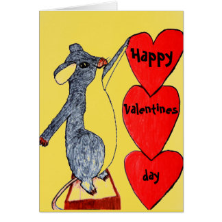 VALENTINE I LOVE YOU THE MOUSTEST card