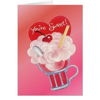 Valentine Ice Cream Soda Card