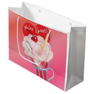 Valentine Ice Cream Soda Large Gift Bag