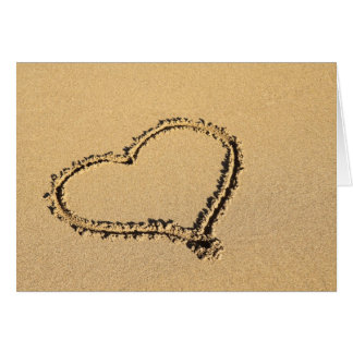 Valentine in the Sand Card