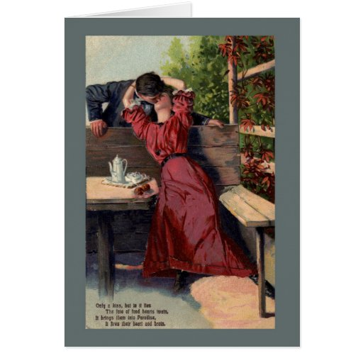 Valentine Kiss Vintage Card