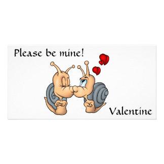 Valentine Kissing Snails Photo Card