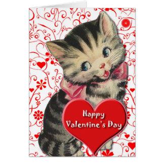 Valentine Kitten Card